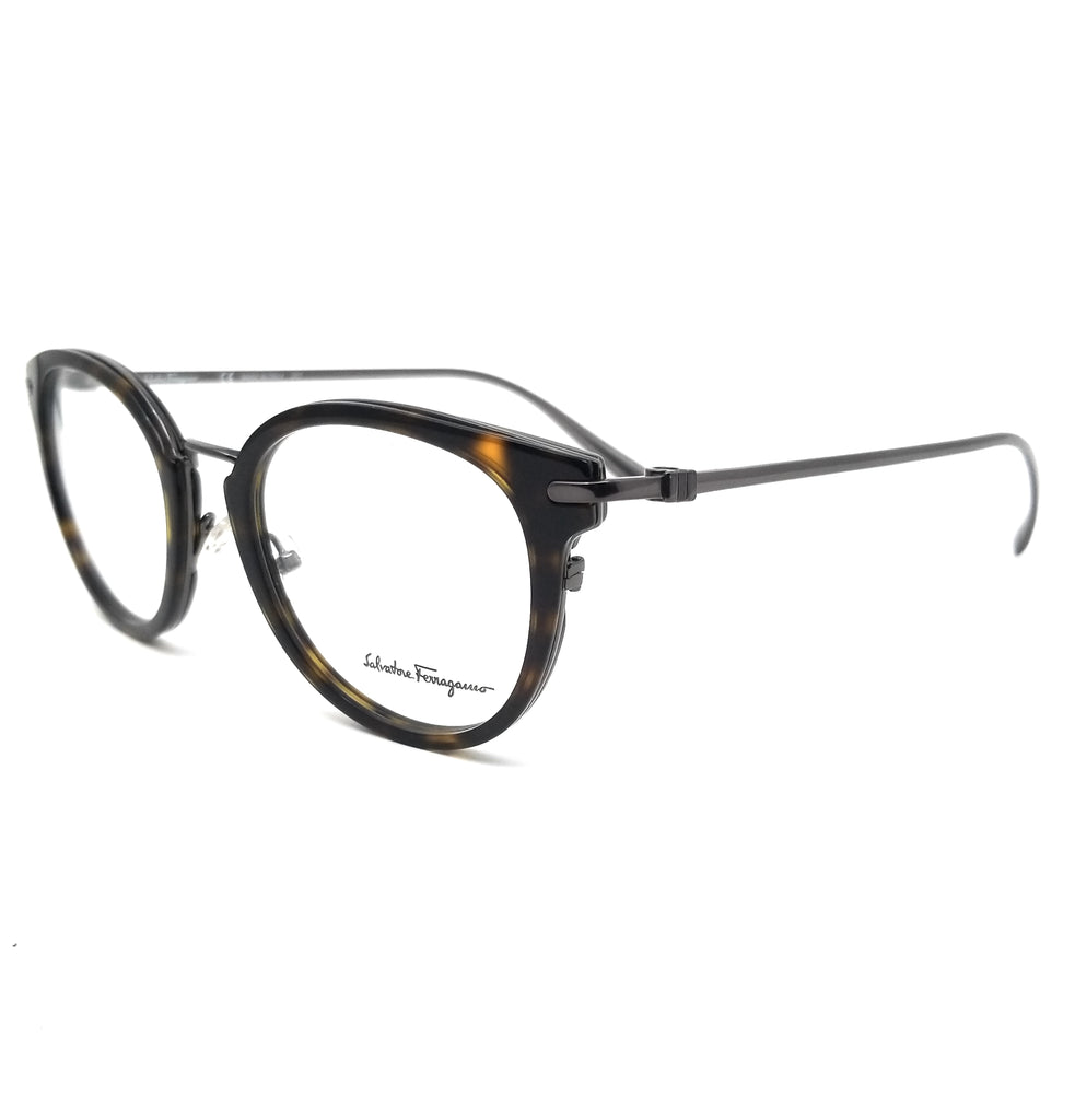 Salvatore Ferragamo Eyeglasses SF2782 273 Dark Tortoise Round Men 50x21x145