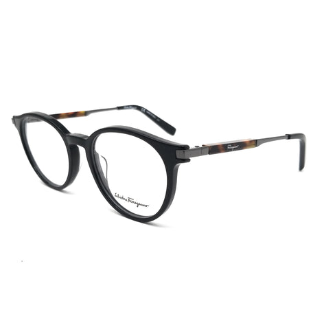 Salvatore Ferragamo Eyeglasses SF2802 001 Black Round Men 50x19x145