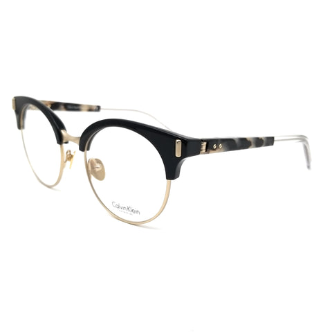 Calvin Klein Collection Eyeglasses CK8569 001 Black Round Women 49x20x135