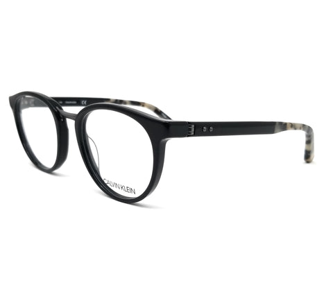 Calvin Klein Collection Eyeglasses CK8567 001 Black Round Men 50x20x140