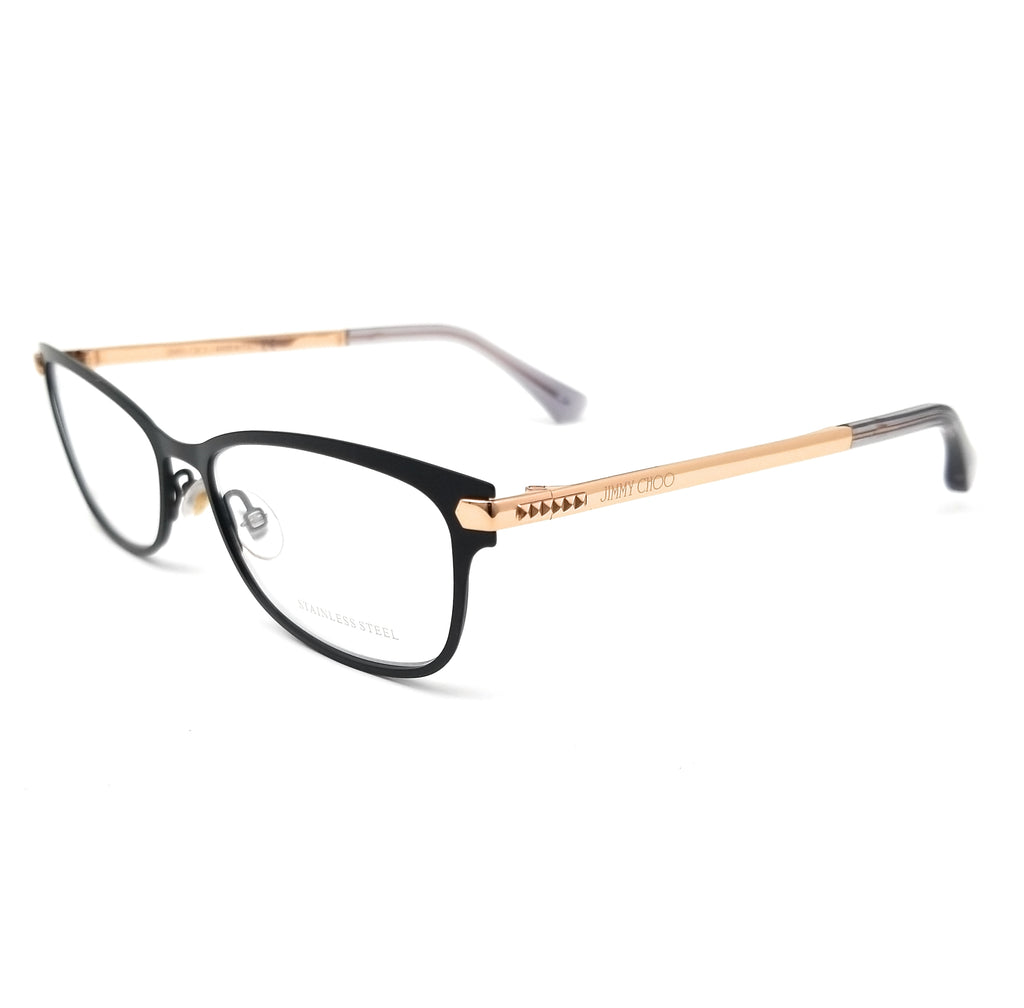 JIMMY CHOO Eyeglasses JC175 OLZ Matte Black Gold Copper Women 53x16x140
