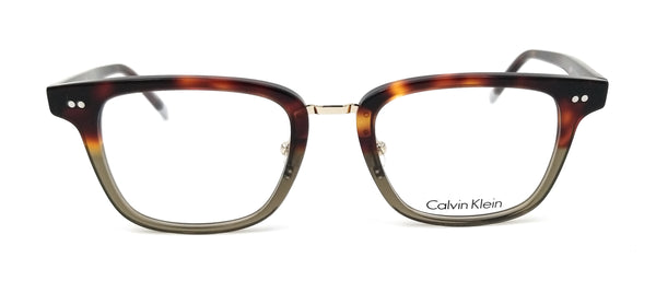 CALVIN KLEIN Eyeglasses CK6006 217 Havana Khaki Rectangle Unisex 51x21x145
