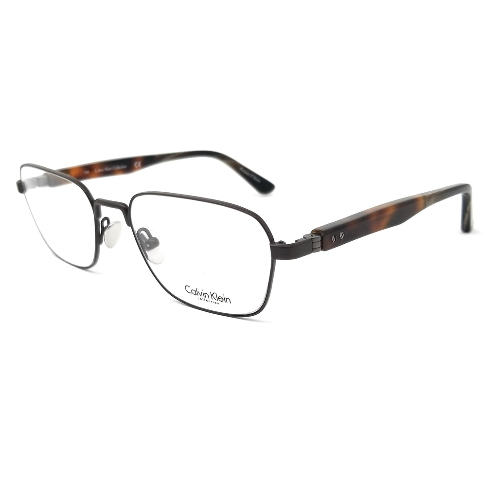 CALVIN KLEIN COLLECTION Eyeglasses CK8044 223 Brown Rectangle Men 51x18x140