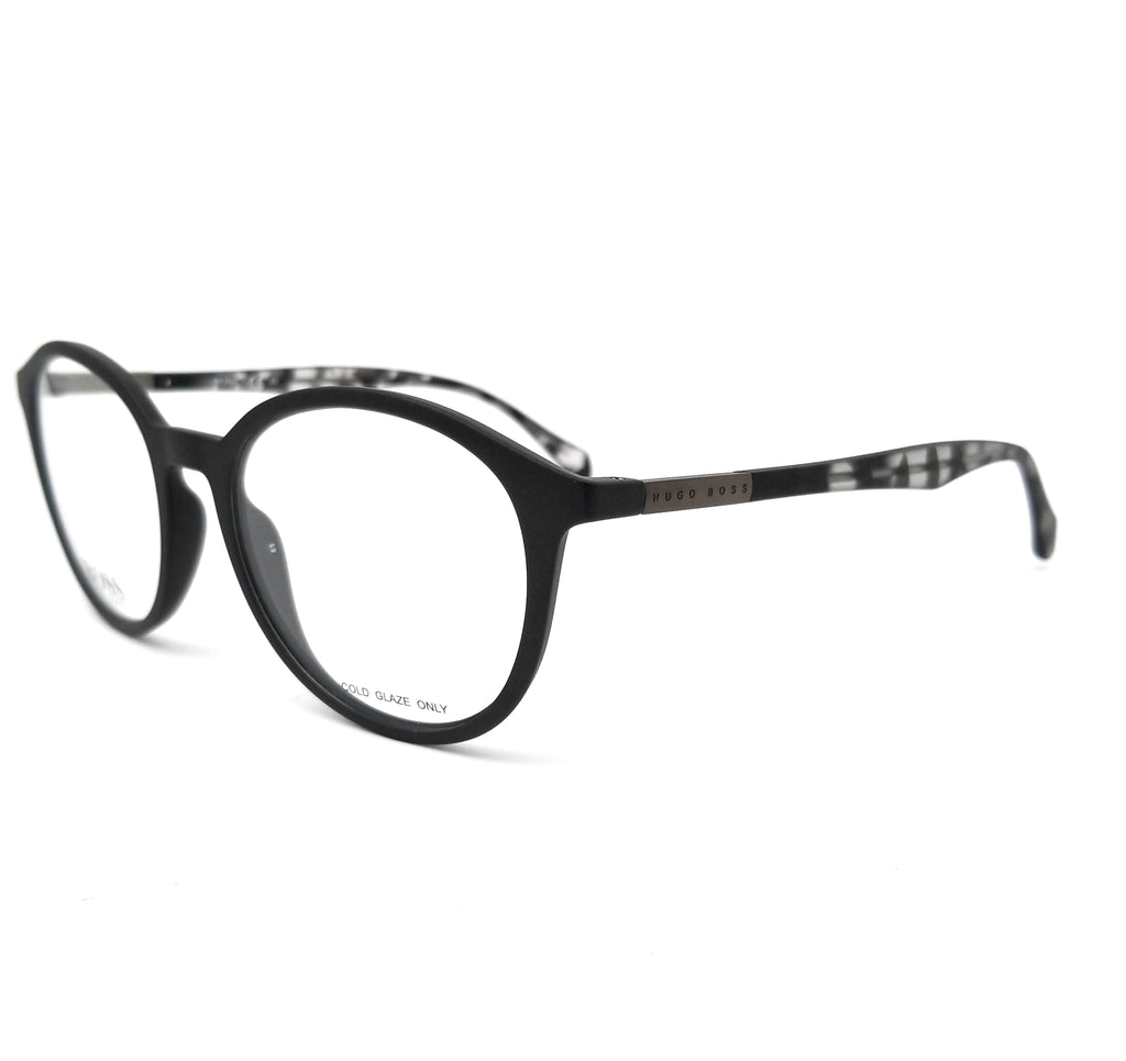 BOSS by Hugo Boss Eyeglasses 0826 YV4 Black Grey Havana Men 52x18x145