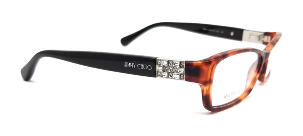 JIMMY CHOO Eyeglasses JC41 6VI Red Havana Brown Women 53x14x130