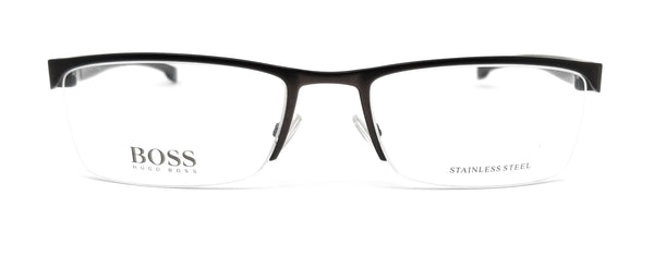 BOSS by Hugo Boss Eyeglasses 0878 0J3 Matte Brown Men 55x19x140