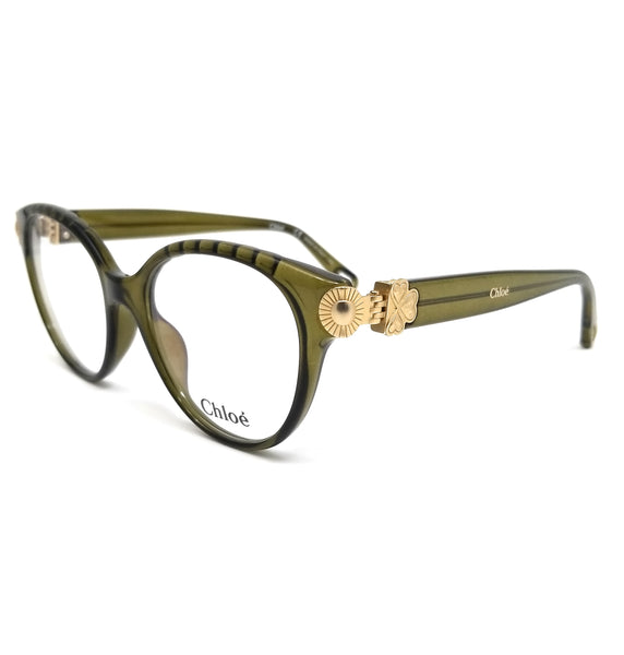 CHLOE Eyeglasses CE2733 310 Crystal Khaki Cat Eye Women 52x17x140