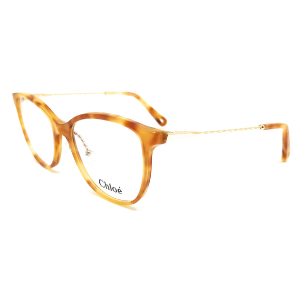 CHLOE Eyeglasses CE2727 725 Blonde Havana Tea Cup Women 54x17x140