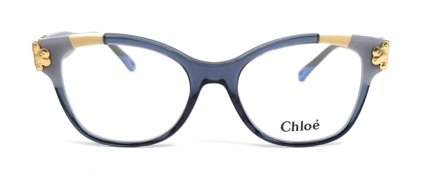 CHLOE Eyeglasses CE2738 422 Blue Patchwork Rectangle Women 53x18x140