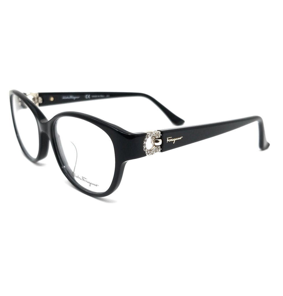 Salvatore Ferragamo Eyeglasses SF2744RA 001 Black Rectangle Women 54x16x130