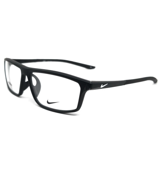 NIKE Eyeglasses 7083UF 003 Matte Black-White Rectangle Men 56x13x140