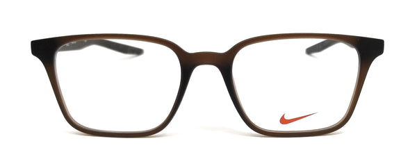 NIKE Eyeglasses 7126 205 Matte Brown Square Unisex 50x18x145
