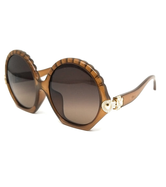CHLOE Sunglasses CE747SA 210 Brown Round Women 56x17x140