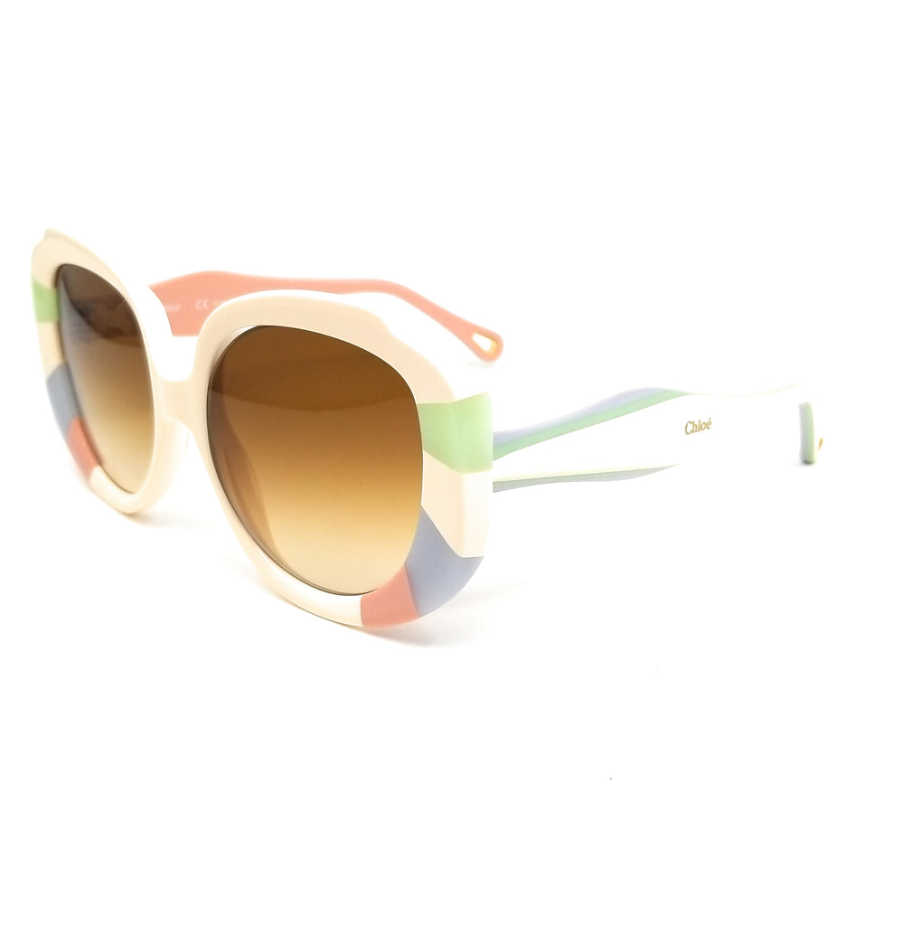 CHLOE Sunglasses CE744S 160 Pastel Rainbow Rectangle Women 51x22x140