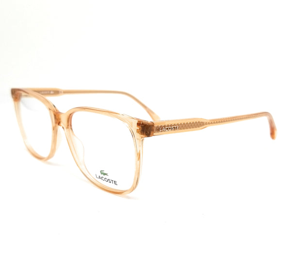 LACOSTE Eyeglasses L2839 662 Transparent Rose Rectangle Women 53x16x145