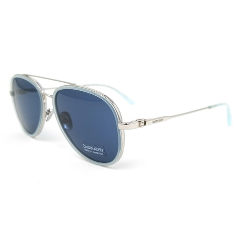 CALVIN KLEIN Sunglasses CK18103S 450 Milky Light Blue Aviator Unisex 57x15x140