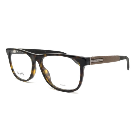 Boss by Hugo Boss Eyeglasses 0985 086 Dark Havana Men 55x16x145