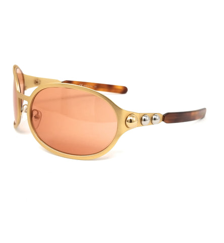 CHLOE Sunglasses CE149S 765 Gold Oval Women 69x19x115