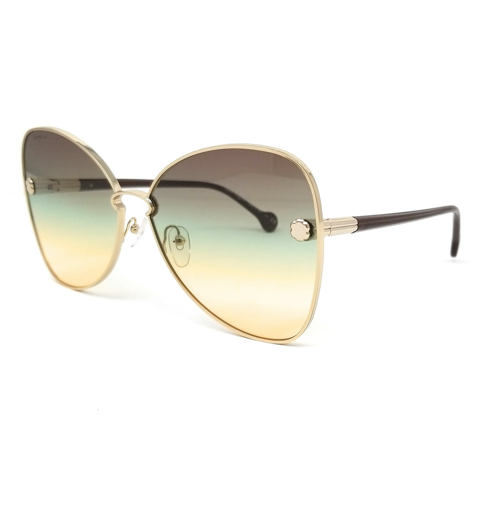 Salvatore Ferragamo Sunglasses SF184S 707 Gold Butterfly Women 64x15x140