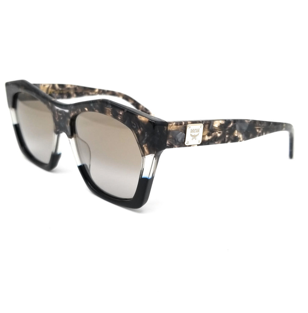 MCM Sunglasses MCM664S 229 Havana Black Modified Rectangle Unisex 55x16x140