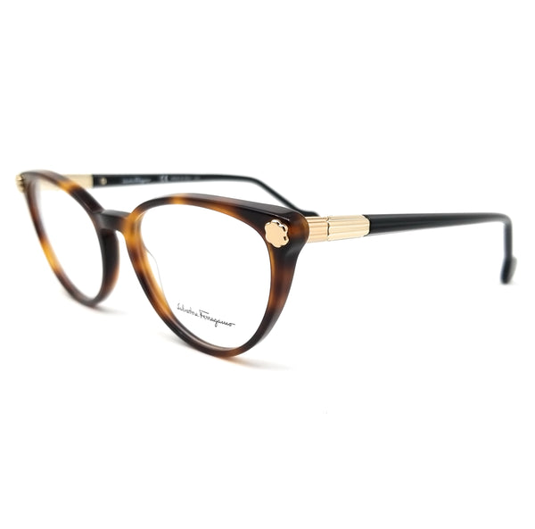 Salvatore Ferragamo Eyeglasses SF2837 214 Tortoise Cat Eye Women 54x17x140