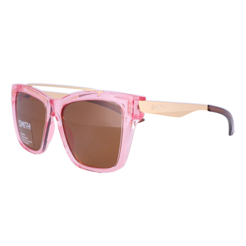 SMITH Sunglasses THE RUNAROUND S45 Pink Gold Women 55x16x140