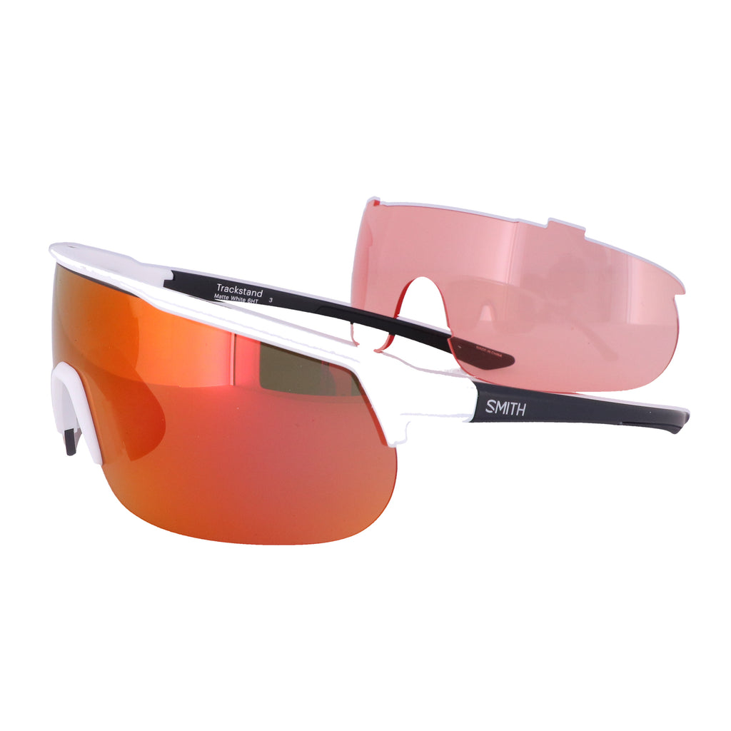 SMITH Sunglasses TRACKSTAND 6HT White Crystal Gray Unisex Adults 99x01x120