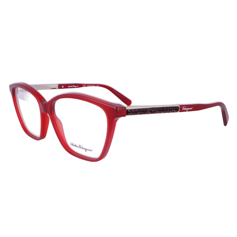 Salvatore Ferragamo Eyeglasses SF2804R 634 Crystal Bordeaux Women 55x14x140