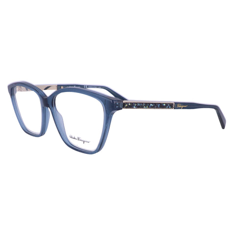 Salvatore Ferragamo Eyeglasses SF2804R 424 Crystal Blue Women 55x14x140