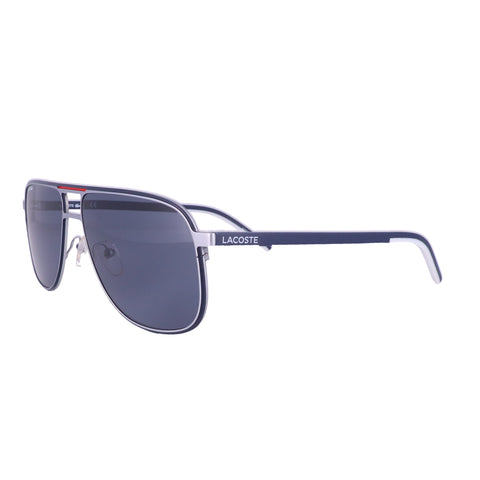 LACOSTE Sunglasses L192S 045 Matte Silver Rectangle Men 61x15x145