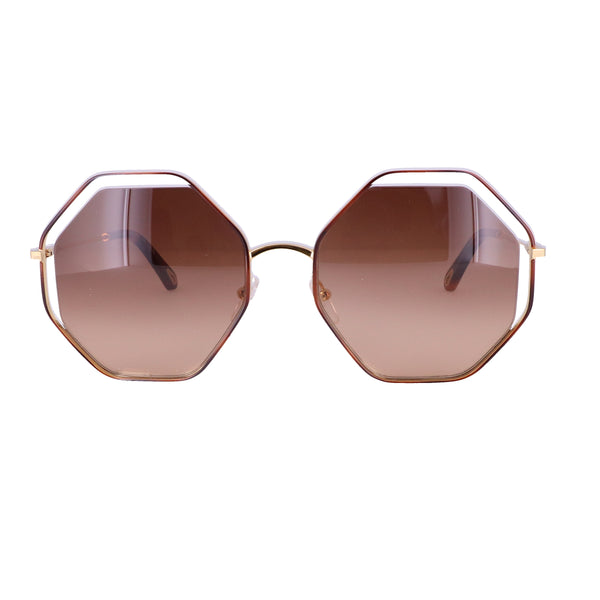 CHLOE Sunglasses CE132S 213 Havana-Brown Rectangle Women 53x20x140