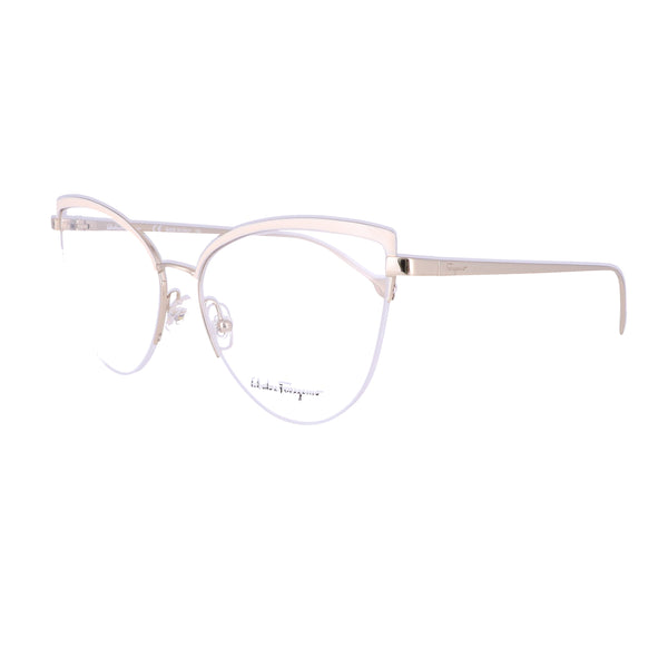 Salvatore Ferragamo Eyeglasses SF2175 721 Shiny Gold-Ivory Women 56x16x140
