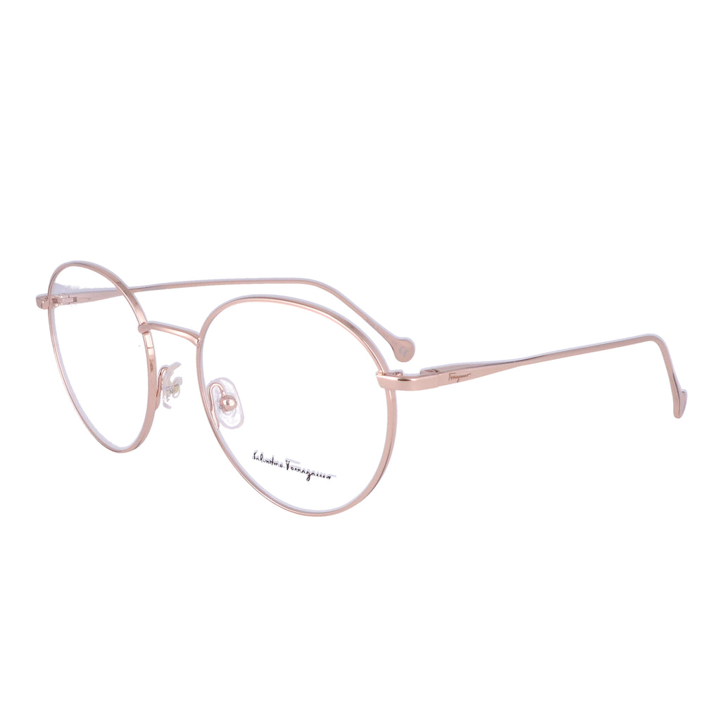 Salvatore Ferragamo Eyeglasses SF2178 688 Rose Gold Round Women 51x18x140