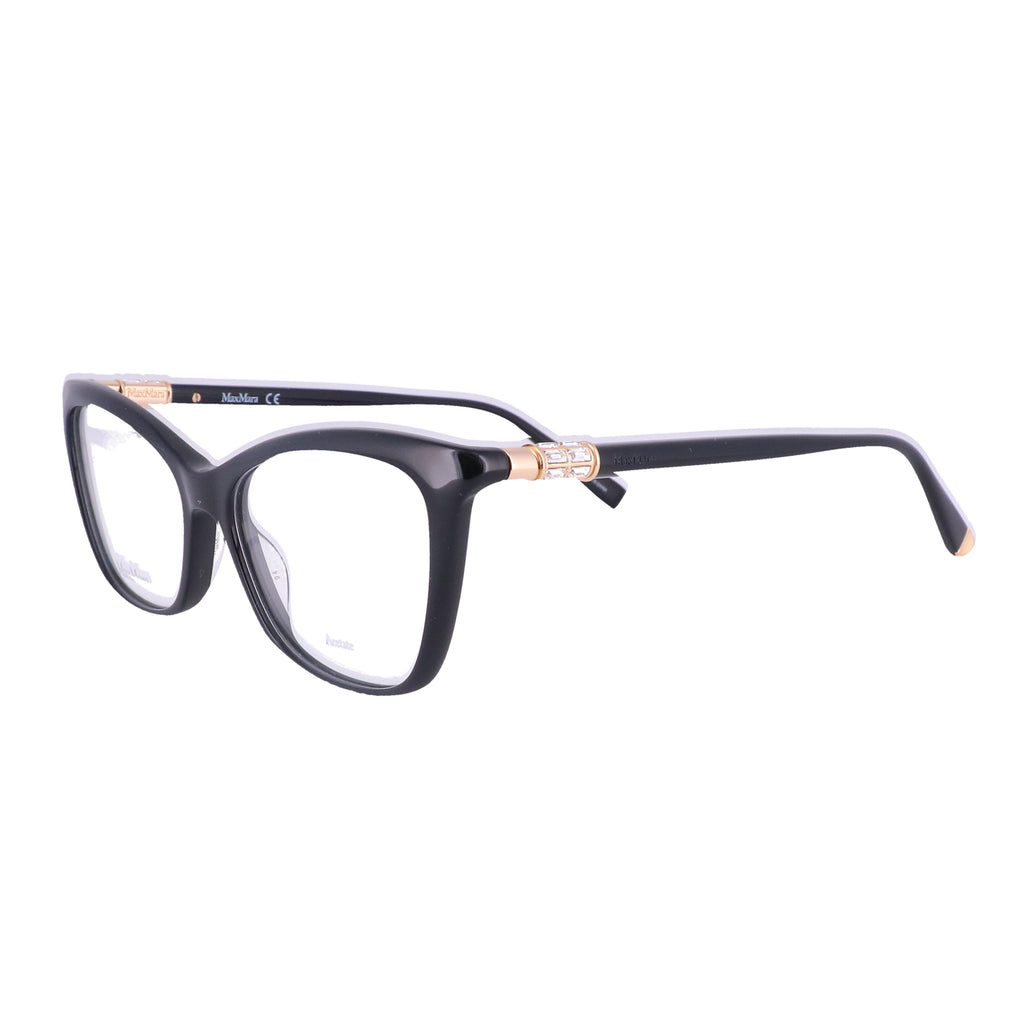 MAX MARA Eyeglasses MM 1339 0807 BLACK Women 53x16x145
