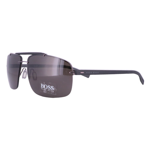 BOSS Sunglasses 0608B 06KY DARK RUTHENIUM MATTE BLACK Men 62x14x145
