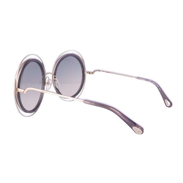 CHLOE Sunglasses CE120SD 731 Gold-Transparent Grey Round Women 58x23x135