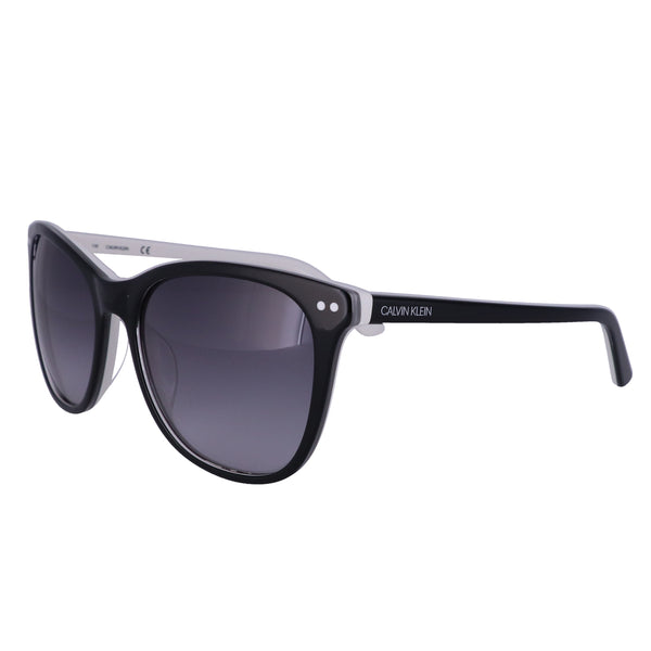 CALVIN KLEIN Sunglasses CK18510S 002 Black-White Square Women 57x18x135