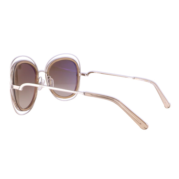 CHLOE Sunglasses CE123S 743 Light Gold Cat Eye Women's 56x23x135