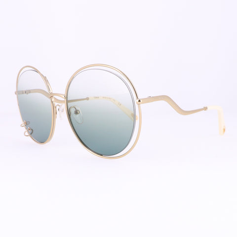 CHLOE Sunglasses CE153S 838 Gold Round Women 59x19x140