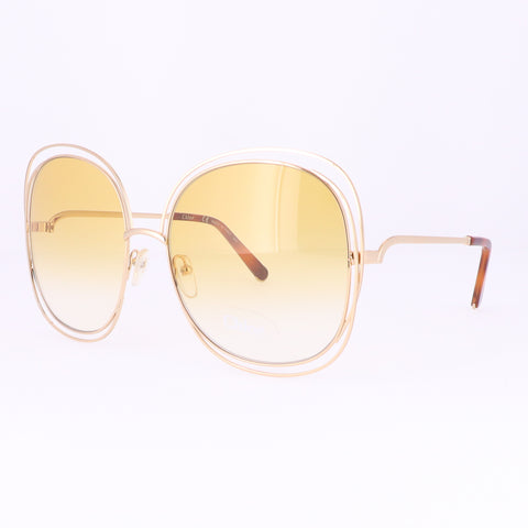 CHLOE Sunglasses CE126S 802 Gold-Havana Rectangle Women 62x18x135