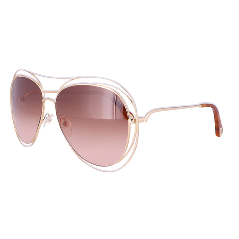 CHLOE Sunglasses CE134S 791 Gold-Havana Aviator Women 61x15x135