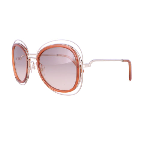 CHLOE Sunglasses CE123S 735 Gold-Caramel Cat Eye Women 56x23x135