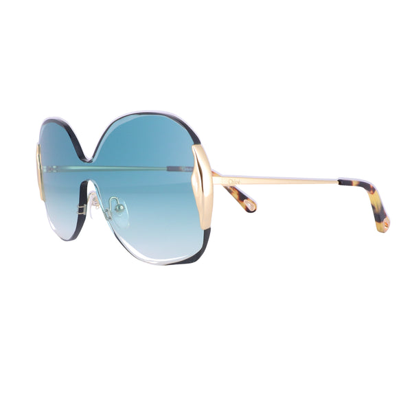 CHLOE Sunglasses CE162S 838 Gold Rectangle Women 59x20x140