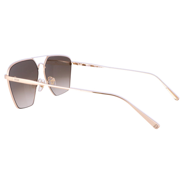 MCM Sunglasses MCM130S 739 Shiny Gold Rectangle Men 60x14x145