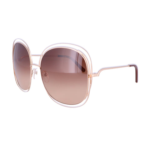 CHLOE Sunglasses CE126S 784 Rose Gold-Transparent Brown Women 62x18x135