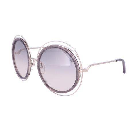 CHLOE Sunglasses CE120S 731 Gold-Transparent Grey Round Women 58x23x135