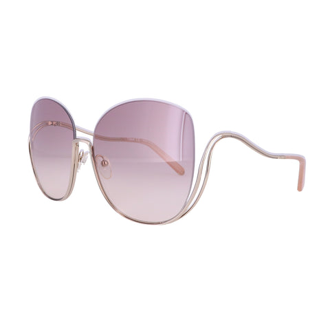 CHLOE Sunglasses CE125S 724 Gold-Transparent Peach Butterfly Women 64x17x125
