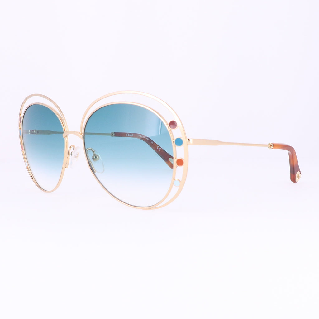 CHLOE Sunglasses CE169S 838 Gold Aviator Women 57x16x140