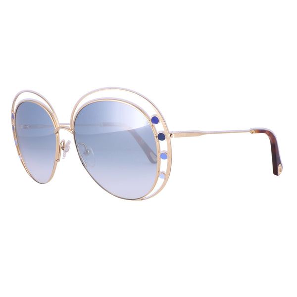 CHLOE Sunglasses CE169S 816 Gold Aviator Women 57x16x140