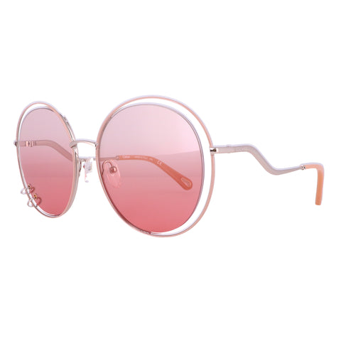 CHLOE Sunglasses CE153S 843 Rose Gold Round Women 59x19x140